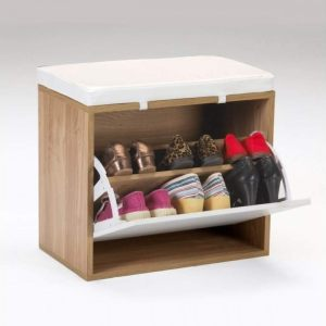 zapatero cerezo y blanco kit closet